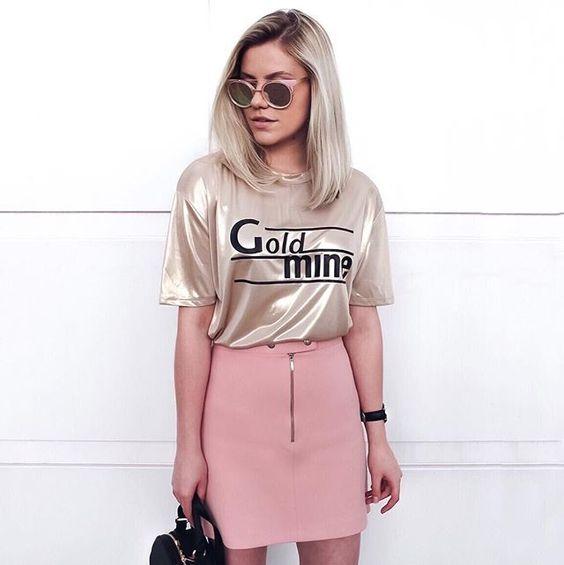 T-shirts cheias de estilo